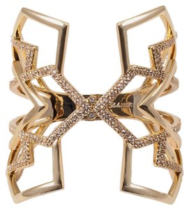 Lulu Frost New! Lulu Frost Portico Hinged Crystal Pave Brass Cuff
