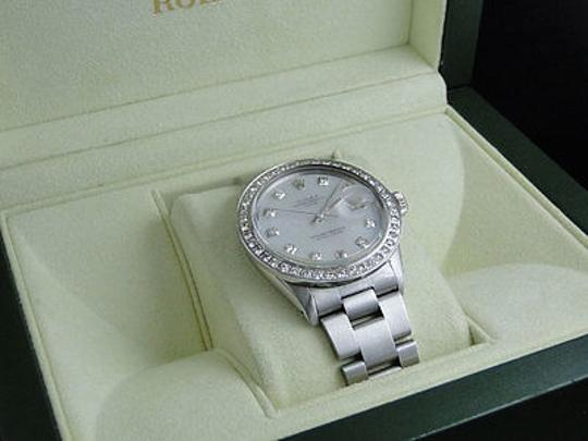 Rolex Mens Stainless Steel Datejust Watch With 2.15 Ct Diamond Mop Dial