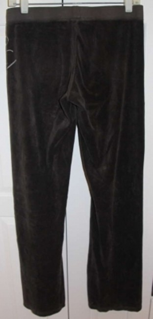 Juicy Couture Velour Drawstring Waist Relaxed Pants chocolate