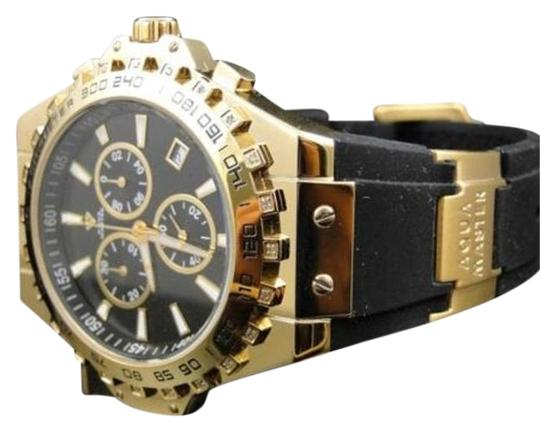 Other Aqua Master Jojo Joe Rodeo Gold Rubber Swiss Signature Diamond Watch Mm