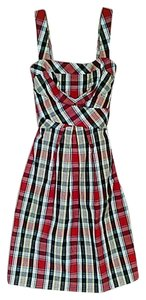 Donna Ricco short dress Multi Plaid on Tradesy