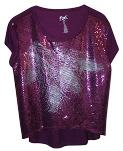 Wrangler Top Purple and Silver