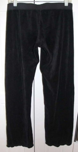 Juicy Couture Velour Drawstring Waist Relaxed Pants black