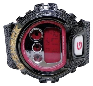 Casio Mens Black And Yellow Genuine Diamond G-shock G Shock Custom Watch 6900