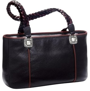 Brighton Tote in Black & Chocolate Trim