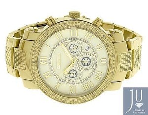 Mens Jojojojino Big Face Stainless Steel Mm 0.25 Ct Diamond Watch Mj-1194