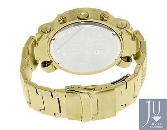 Other Mens Jojojojino Big Face Stainless Steel Mm 0.25 Ct Diamond Watch Mj-1194