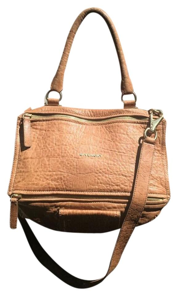 e61b900dc7 Givenchy Pandora Medium Messenger Crossbody Lt Brown Leather Satchel ...