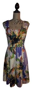 London Times Floral Pleated Dress