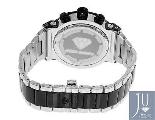 Other Mens Aqua Master Jojino W146 85-5 Black Stainless Steel Diamond Watch 0.25 Ct