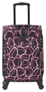 Diane von Furstenberg Carry-on Travel Suitcase Black/White Travel Bag