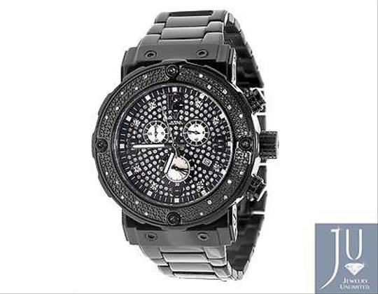 Other Mens Aqua Master Jojino W146 84-3 Black Stainless Steel Diamond Watch 0.25 Ct