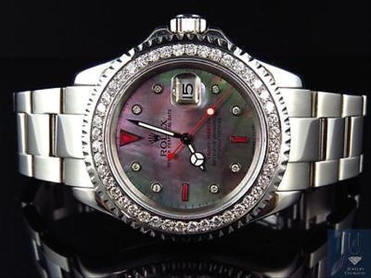 Rolex Mens Rolex Mm Yachtmaster 16622 Oyster Stainless Steel Diamond Watch Ct