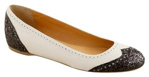 J.Crew White Oxford Ballet Black and Cream Flats
