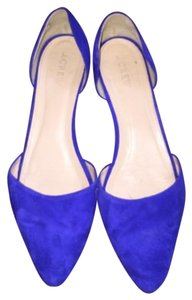 J.Crew Suede D'orsay Blue Flats