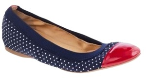 J.Crew Polka Dot Patent Leather Red Red, White, and Blue Flats