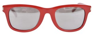 Saint Laurent New Saint Laurent YSL Women's Red Framed Classic 51 Sunglasses
