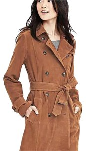 Banana Republic leather suede trench coat with tags xs (Reg $698) Trench Coat