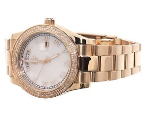 Techno Com by KC Mens Ladies Rose Gold Stainless Steel 41mm Techno Com Kc Day-date Diamond Watch