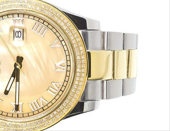Techno Com by KC Mens Ladies Two Tone Stainless Steel 41mm Techno Com Kc Day-date Diamond Watch