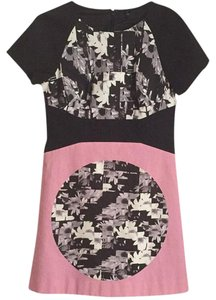 Tibi short dress Black, pink, white on Tradesy