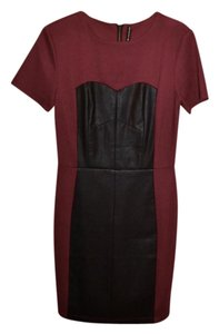 W118 by Walter Baker Faux Leather Sheath Mini Dress