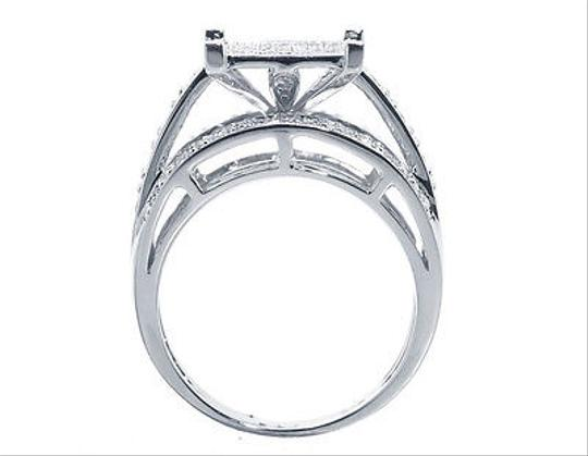 Other White Gold Finish Ladies Round Pave Diamond Engagement Fashion Ring 0.65 Ct