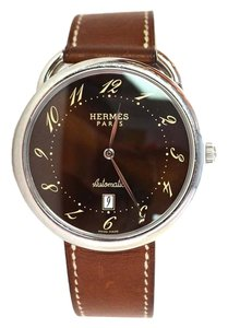 Hermès Hermes Men's Brown Arceau TGM Automatic Watch