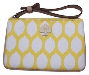Kate Spade Wristlet in Yellow, White