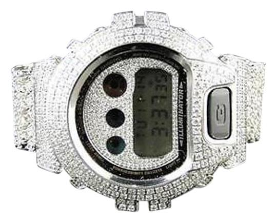 G-Shock Casio Mens G Shock 6900 Iced Out Jojo White Simulated Diamond Watch 15.50 Ct