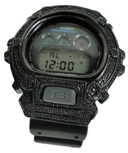 Casio Mens G Shock G-shock Genuine Diamond Bezel Black Metal 6900 Watch