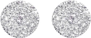 Jewelry Unlimited 14k,White,Gold,Mens,Ladies,Round,Diamond,Cluster,6mm,Studs,Earrings,0.33ct