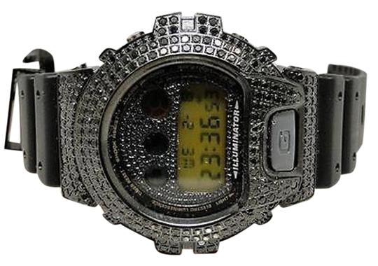 G-Shock Casio Mens G Shock 6900 Jojino Aqua Master Black Simulated Diamond Watch Ct