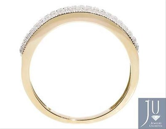 Other 10k Yellow Gold Mens Pave Round Genuine Diamond 6.5mm Milgrain Band Ring 0.50ct Image 3