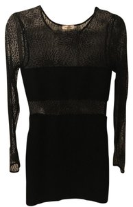 Silence + Noise Mesh Sleeves Sheer Cutouts Cut-out Dress