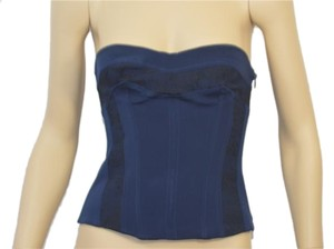 La Perla Top blue and black