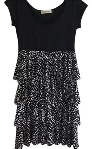 Veronica M short dress Black and white on Tradesy