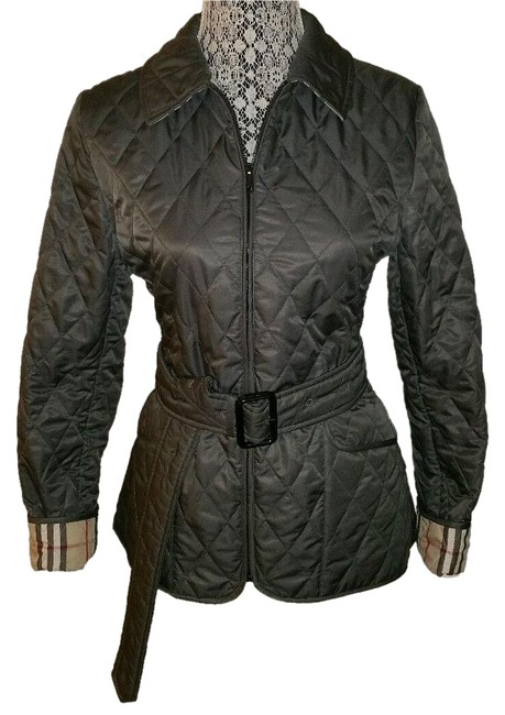 Item - Gray Quilted Coat Size 6 (S)
