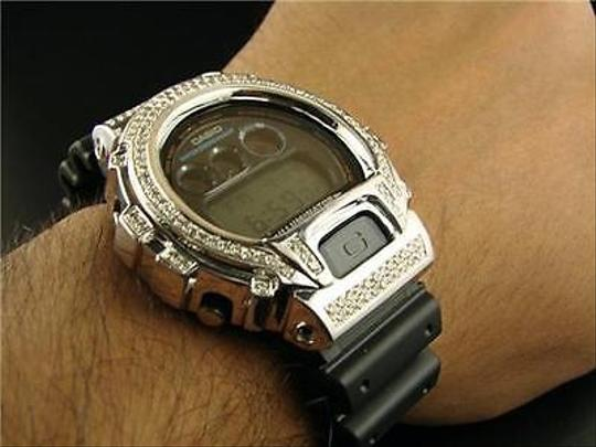 G-Shock Casio Mens G Shock 6900 Jojino Aqua Master White Simulated Diamond Watch Ct