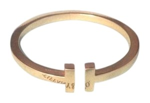 Tiffany & Co. Tiffany 18k Gold T Wire Square Bracelet