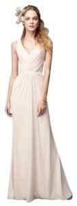 Monique Lhuillier Bridesmaid Chiffon Lace Sheer Dress