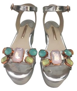 Sophia Webster Patent Leather Metallic silver Platforms