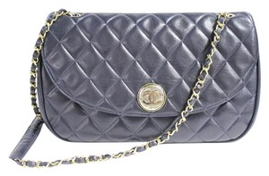 Chanel Blue Flap Shoulder Bag