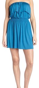 Rachel Pally short dress Blue Mini Strapless Halter on Tradesy