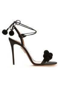 Aquazzura Open Toe Sandal Ankle Strap Black Pumps