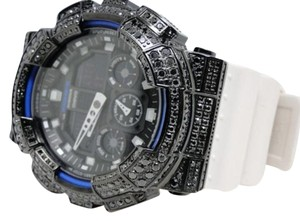 Casio Casio G Shock Mens Jojo Joe Rodeo Aqua Master Black Simulated Diamond Watch