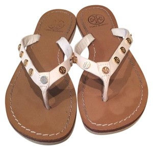 Tory burch flipflop Cream Sandals