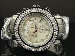 Mens Jojojoe Rodeo Junior Jju81 Vs Mop Dial Row Bezel Diamond Watch 4.75ct