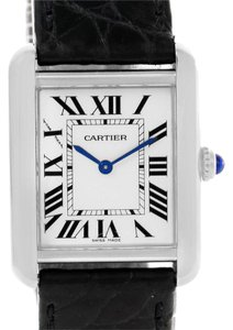 Cartier Cartier Tank Solo Ladies Stainless Steel Black Strap Watch W1018255