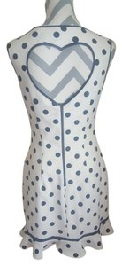 Betsey Johnson short dress White and Black 50s Polka Dot Vintage Heart Open on Tradesy
